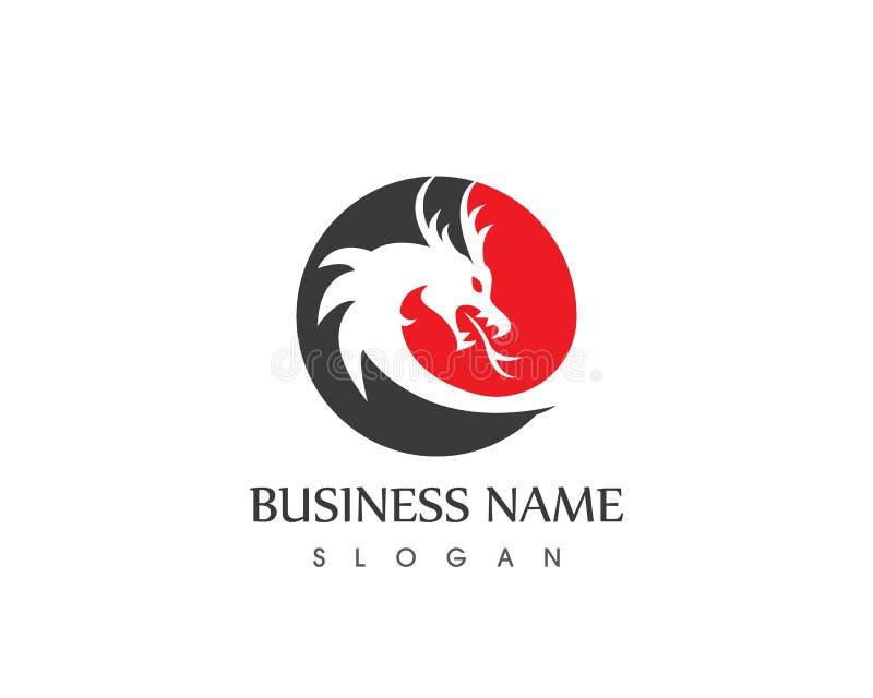 龙商标传染媒介模板企业象商标模板 皇族释放例证