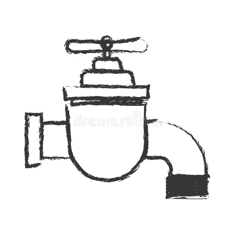 龙头象单色被弄脏的剪影  向量例证
