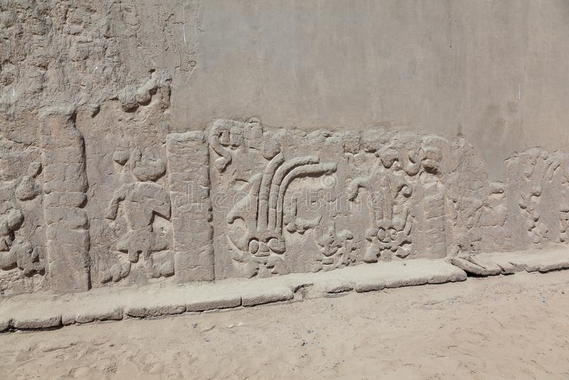 龙或彩虹的Huaca或寺庙 免版税库存图片