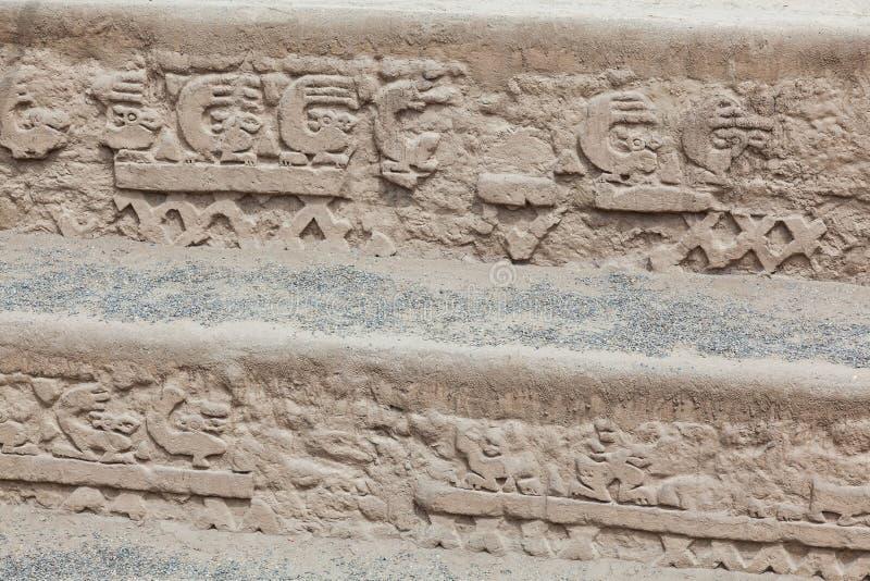 龙或彩虹的Huaca或寺庙 免版税库存照片