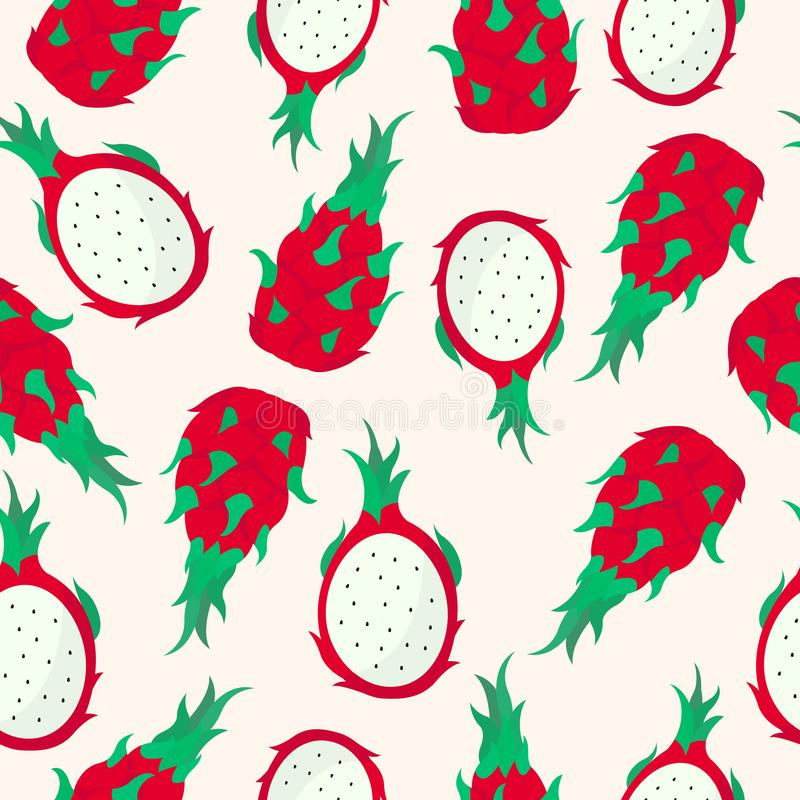 龙果子无缝的样式 向量例证