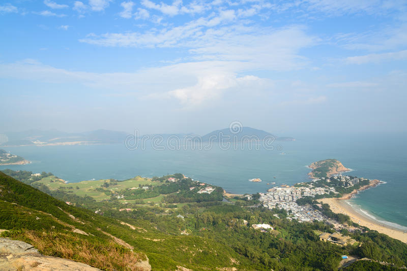 龙的后面在香港 免版税库存图片