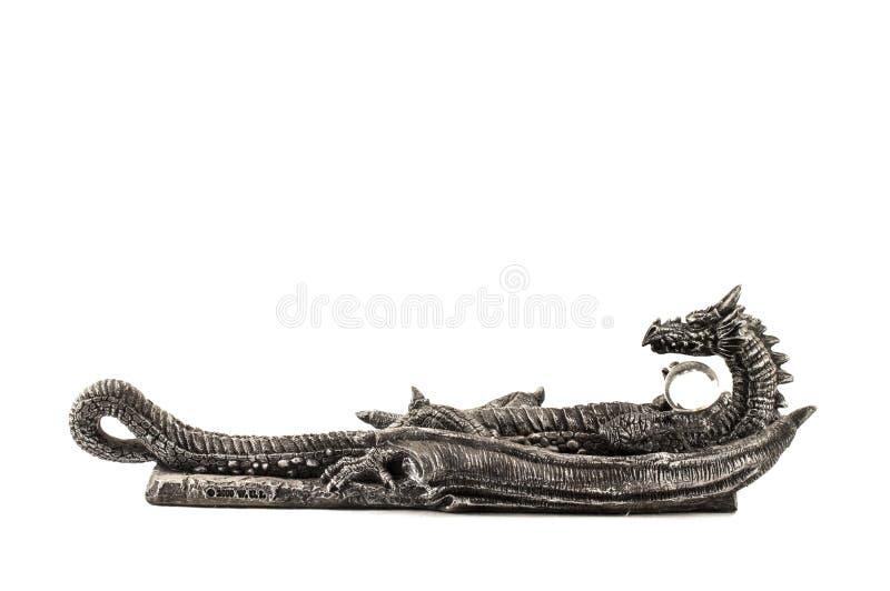 龙的小雕象 免版税库存图片