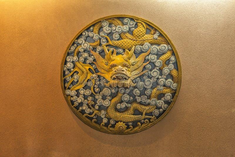龙石头雕刻总统府 免版税库存图片