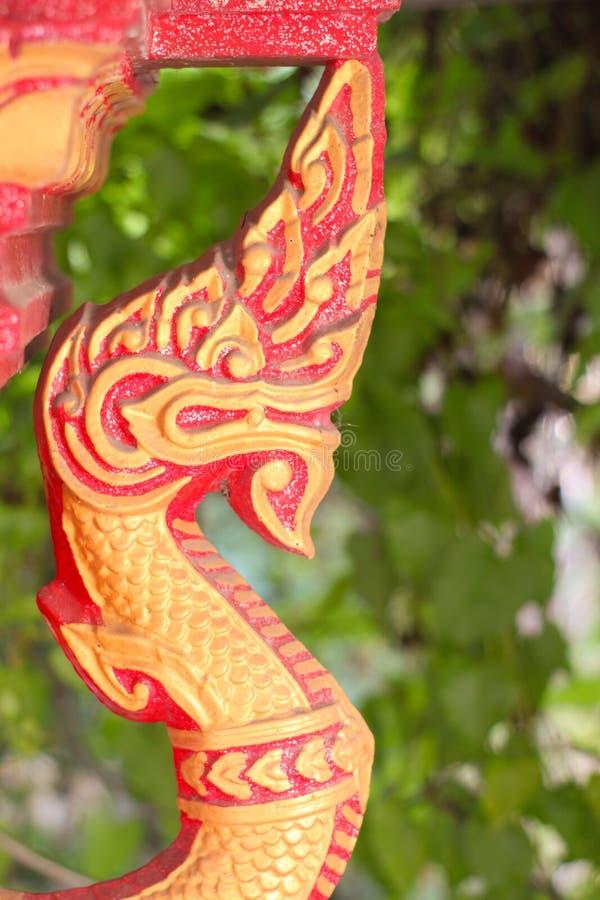 龙红色金子 免版税图库摄影