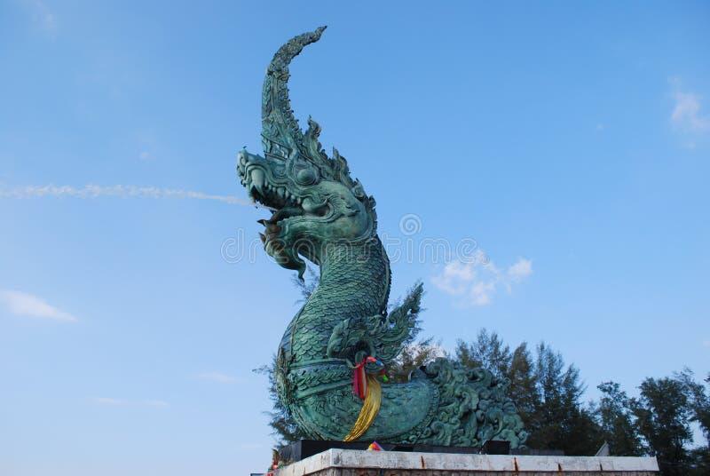 龙纪念碑 库存图片