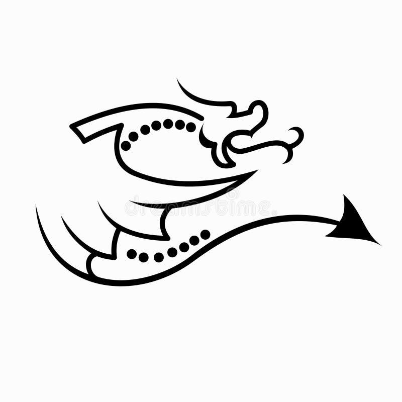 龙纹身花刺设计的传染媒介例证 向量例证