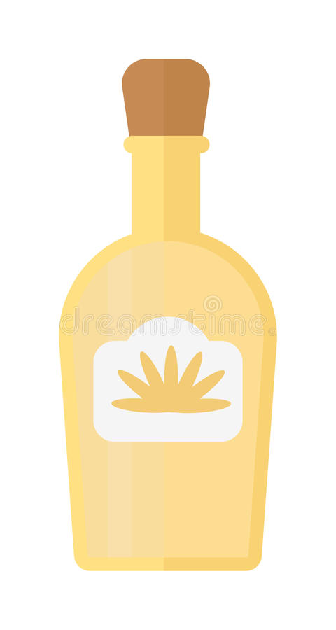 龙舌兰酒瓶传染媒介例证 向量例证