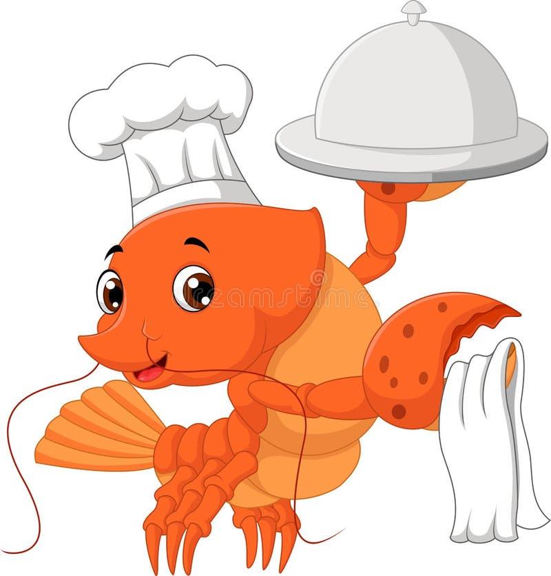 龙虾动画片 向量例证
