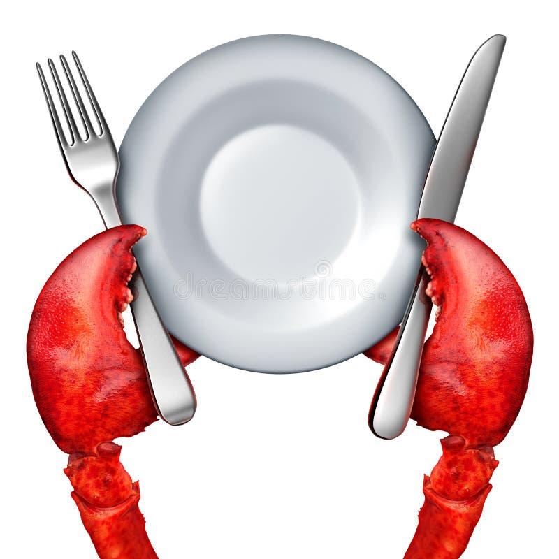 龙虾晚餐概念 库存例证