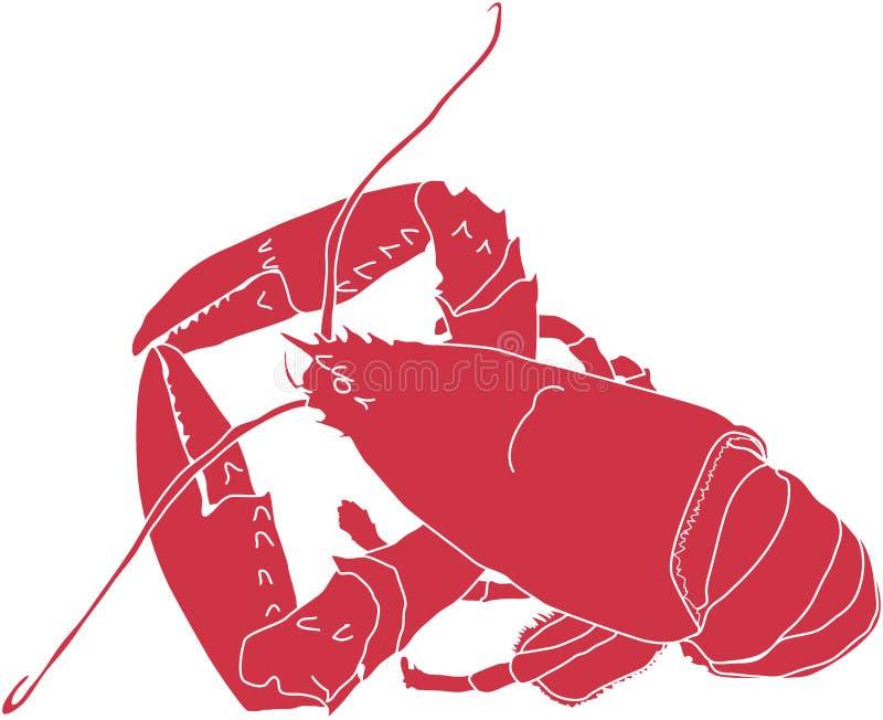 龙虾缅因 向量例证