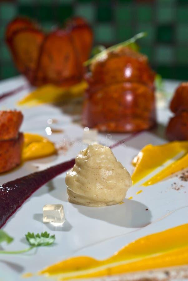 龙虾胡椒纯汁浓汤南瓜w 库存图片