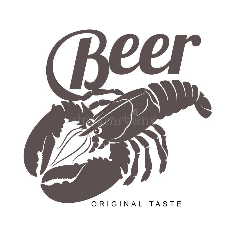 龙虾酒吧商标 向量例证