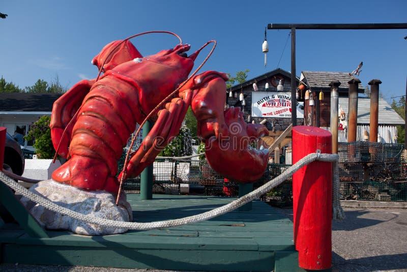 龙虾餐馆在缅因 库存图片