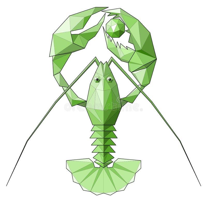 龙虾 库存例证