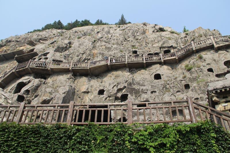 龙门石窟在洛阳,河南,中国公园 免版税图库摄影