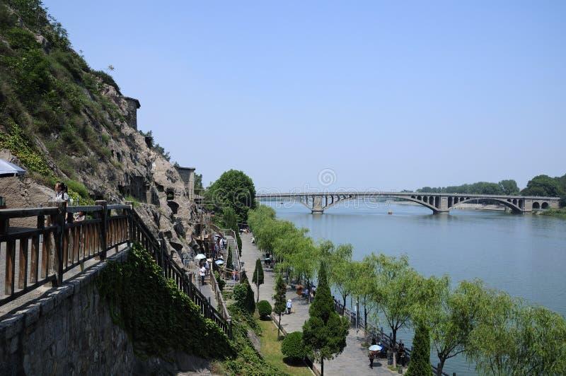 龙门洞穴中国 免版税库存图片