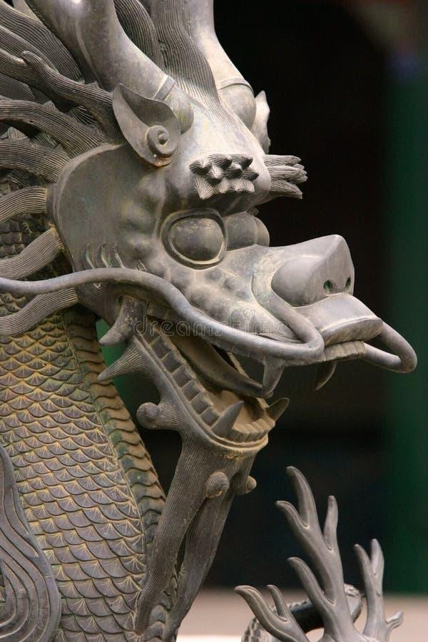 龙雕象 库存照片