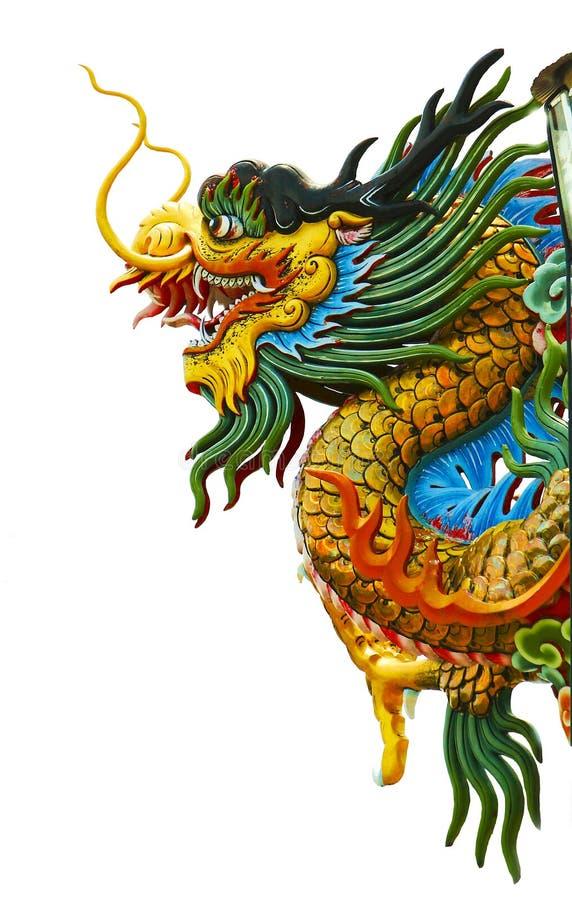 龙,春节, backgraound,后面白色, 免版税库存照片