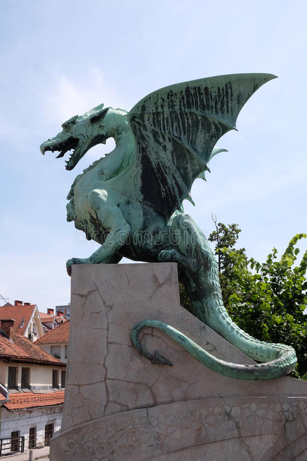 龙-斯洛文尼亚首都卢布尔雅那的标志 免版税库存照片