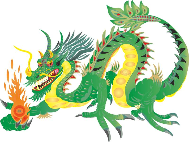 龙FIERN中国国民 库存例证