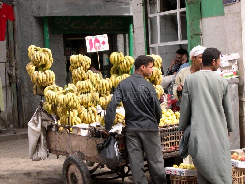 11/11/2015,开罗,埃及,新鲜的香蕉o摊贩  库存图片