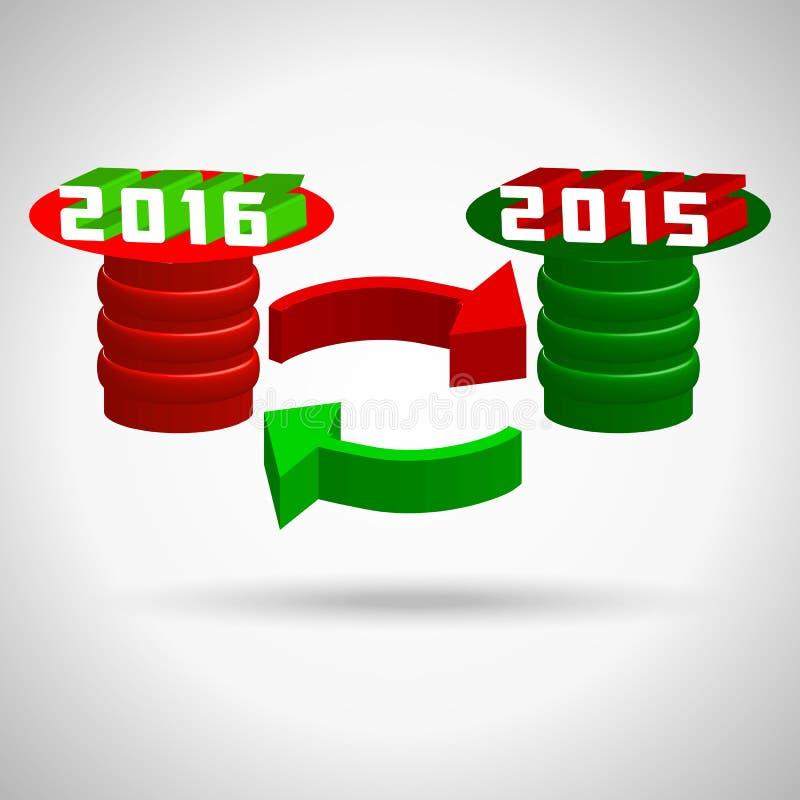 2016年,新年好,圣诞快乐假日 库存例证