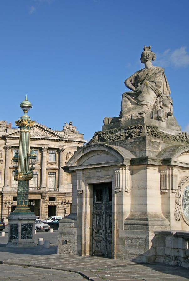 巴黎,法国- 2009年11月27日:在协和广场的雕象 库存照片