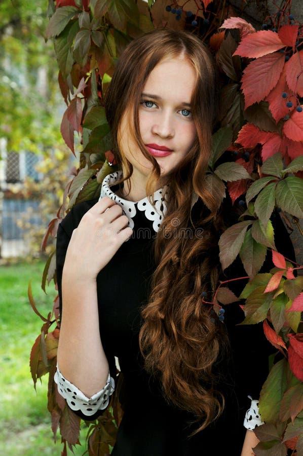 年轻,浪漫,美丽的女孩 夏天画象 库存图片