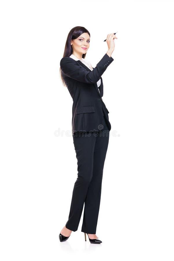 年轻,确信,成功和美好的女商人isolat 图库摄影