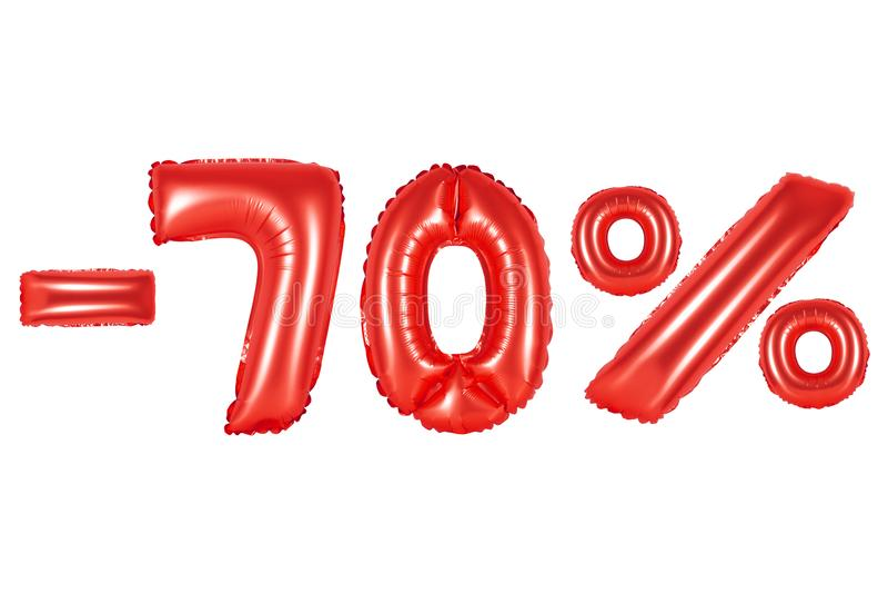 70%,红颜色 库存照片