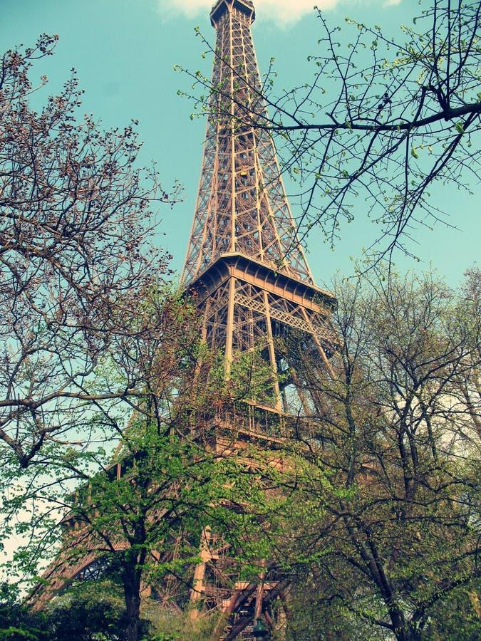巴黎,艾菲尔铁塔 库存图片