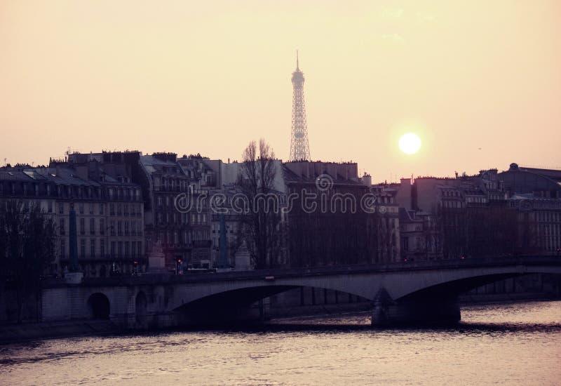巴黎,艾菲尔铁塔 库存照片