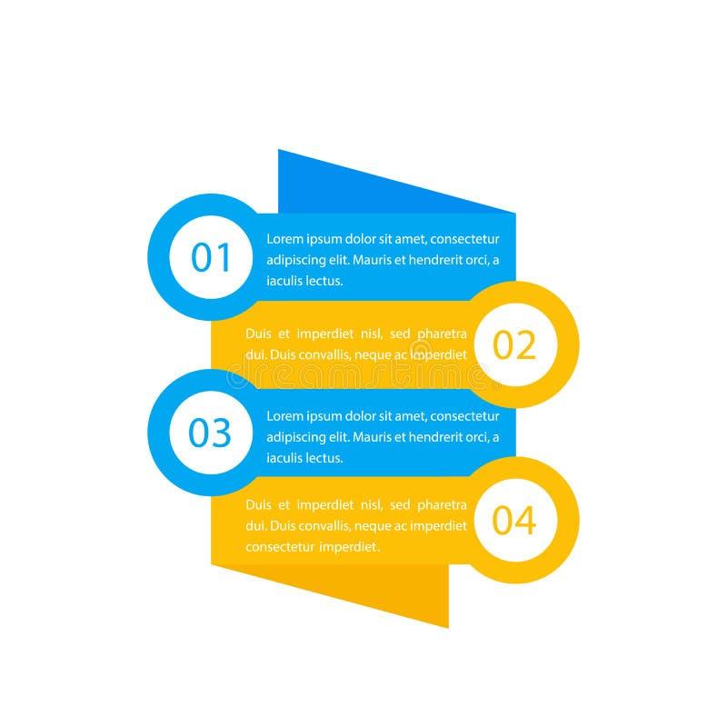 1,2,3,4步,时间安排,进展图,infographics元素,传染媒介标签 向量例证