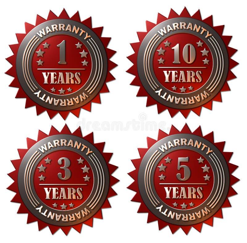 1, 3, 5和10年保单 库存例证