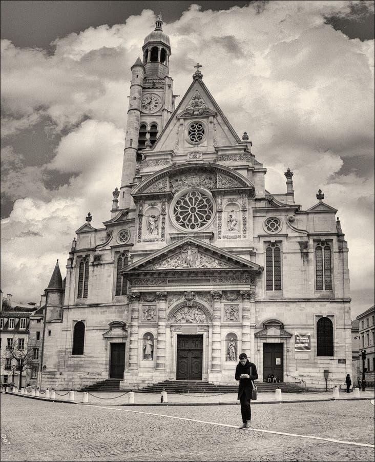 巴黎:圣徒Ã ‰ tienne duMont 免版税库存照片