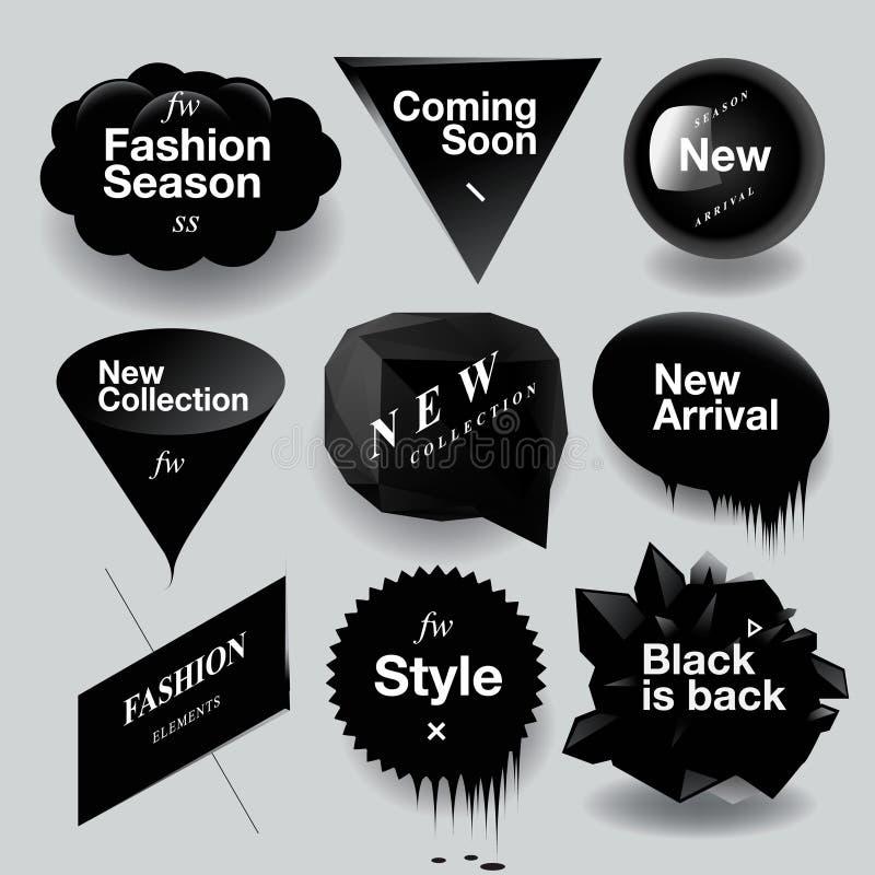 ?时尚销售被设置的讲话泡影 库存例证