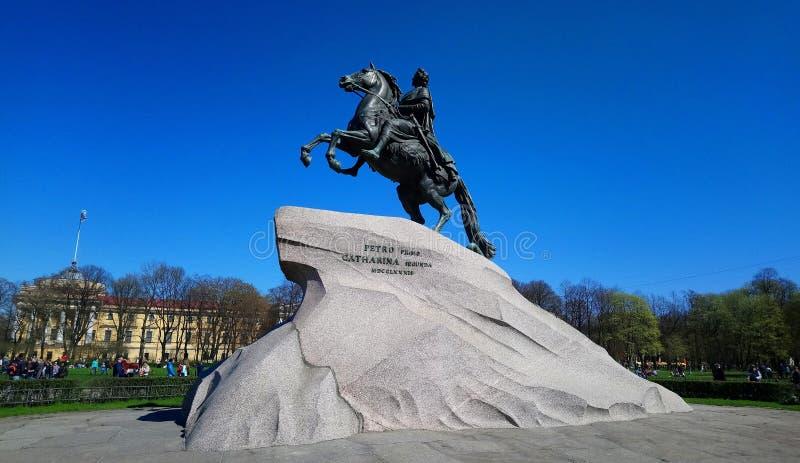 Thebrązu jeździec zdjęcia royalty free
