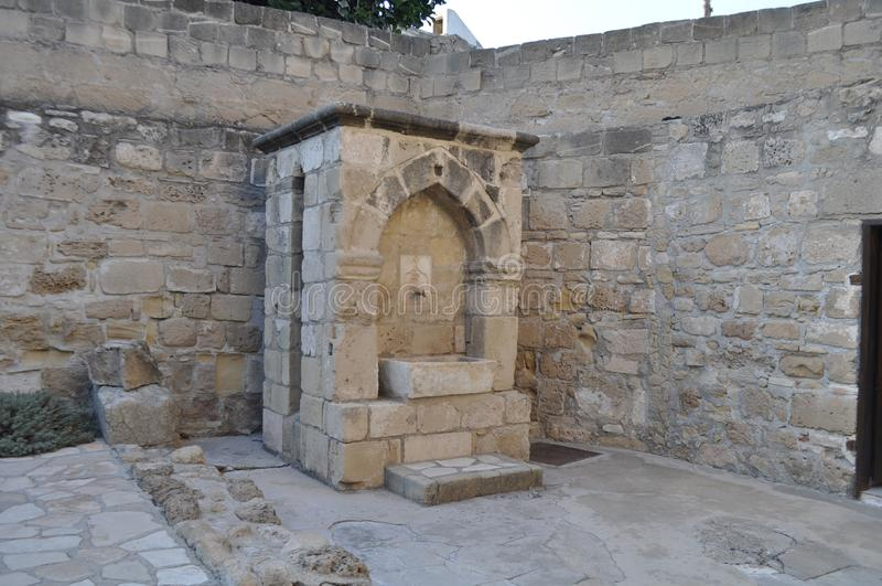 Ofmedievale LarnacaLarnakadi TheCastlenel Cipro fotografia stock