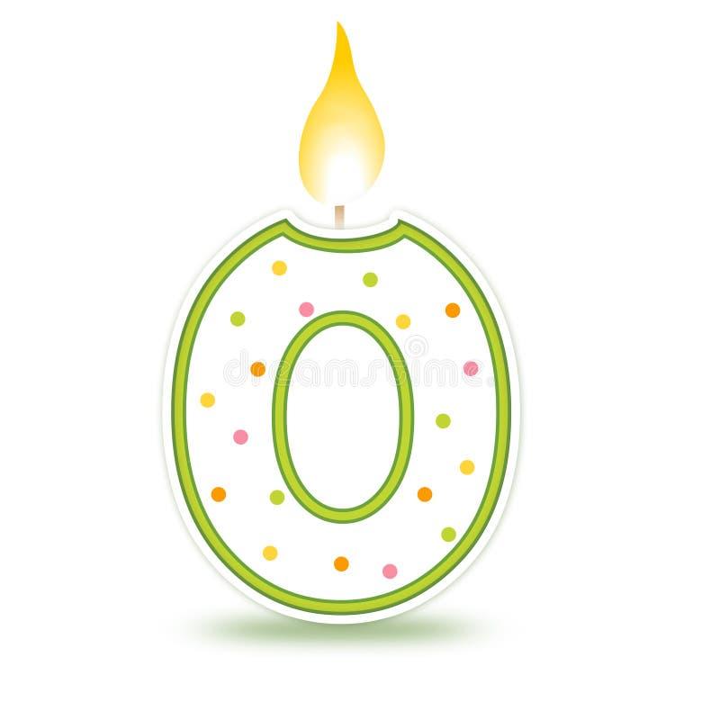 0个生日蜡烛 皇族释放例证