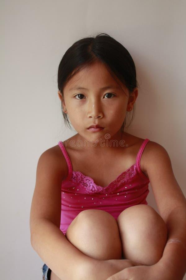 0 λίγο κορίτσι Asain στοκ φωτογραφία