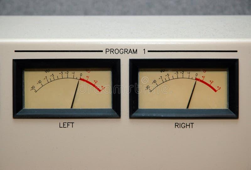 0 μέτρα VU στοκ εικόνες με δικαίωμα ελεύθερης χρήσης