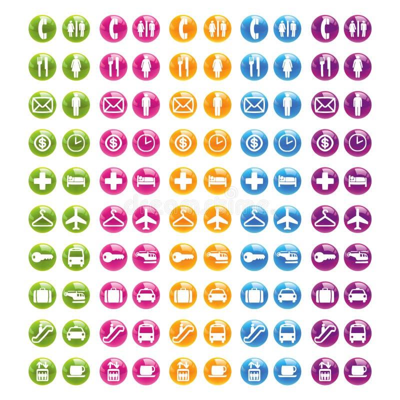 0 сетей 2 икон установленных иллюстрация штока