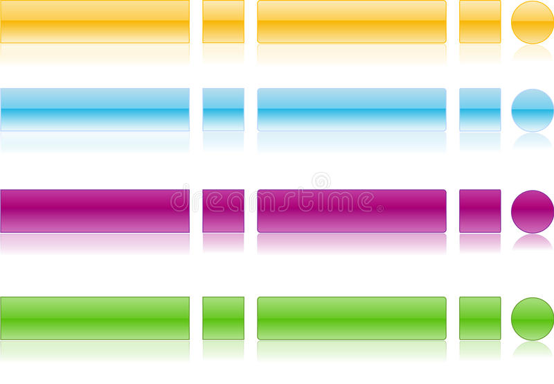 0 2个按钮反映万维网 免版税图库摄影
