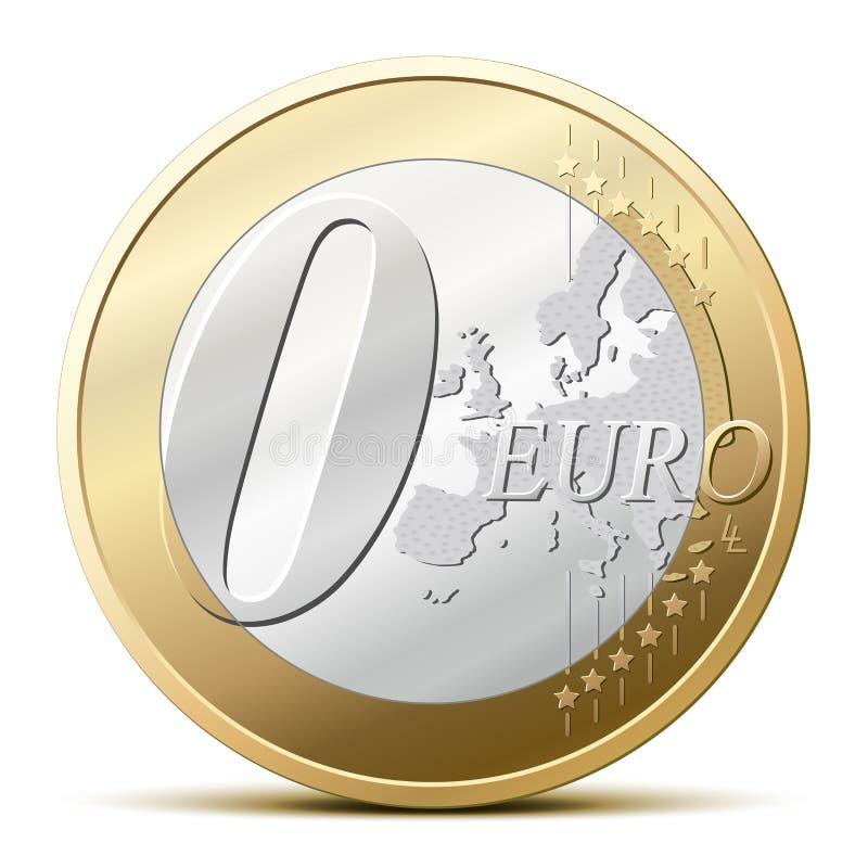 0 euro monete illustrazione di stock