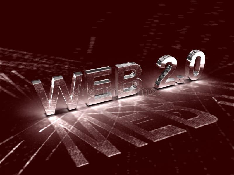 (0) sieci 2 ilustracja wektor