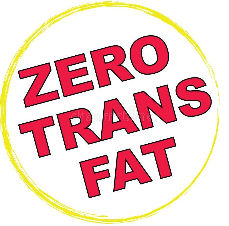 0 Trans Fat Symbol vector illustration