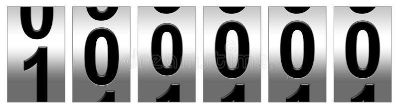 000 100 mile odometer διανυσματική απεικόνιση