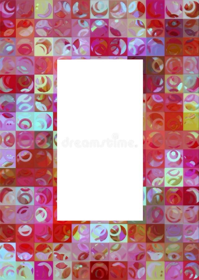 001 ramowy retro ilustracja wektor