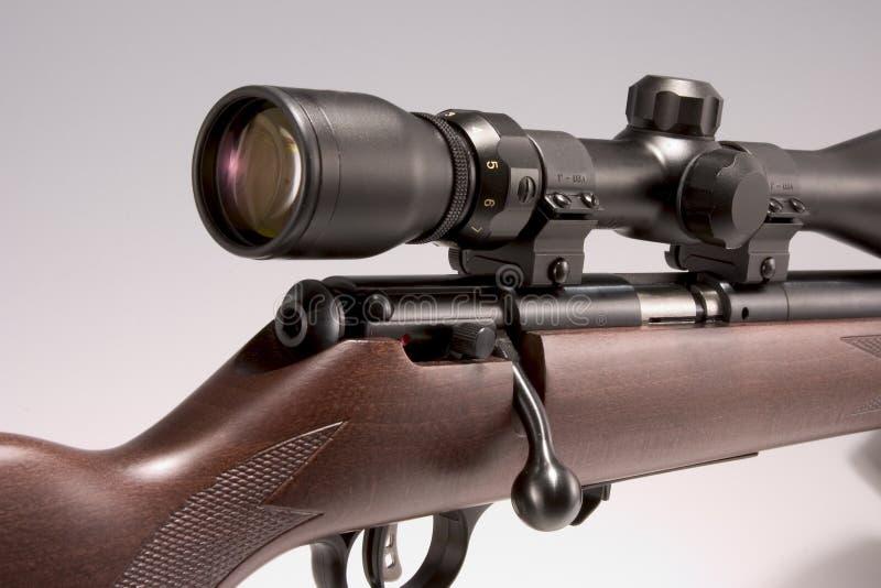 001 rifle de 17 hmr con alcance imagen de archivo